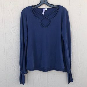 Blue Accent Top